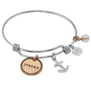"""Love This Life """"Strong"""" Charm Bracelet"""